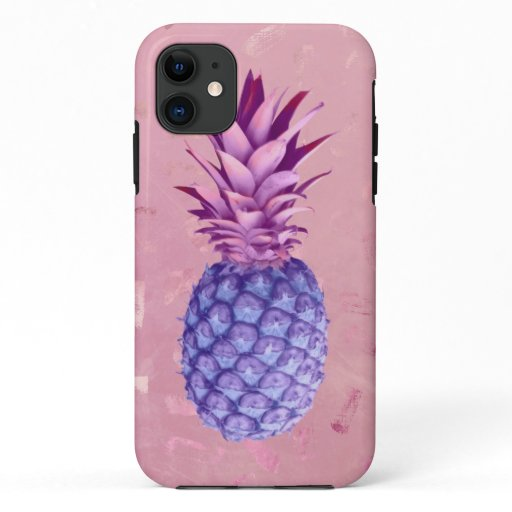 Lilac Pink Glitter Pineapple   iPhone 11 Case