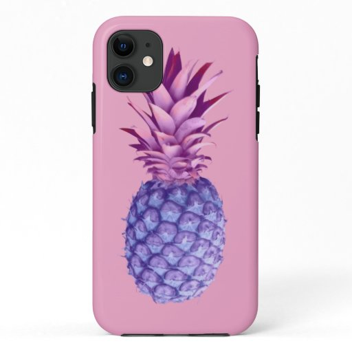Lilac & Pink Pineapple  iPhone 11 Case