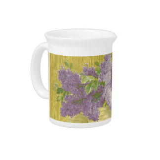 Lilac Pitcher French Country Decor Shabby Chic