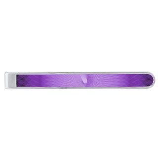 Lilac Plafond Silver Finish Tie Clip