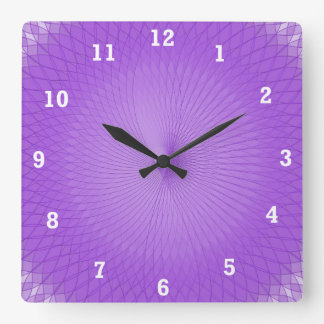 Lilac Plafond Square Wall Clock