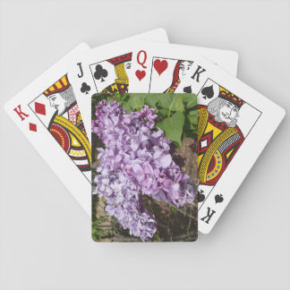 Lilac playing cards