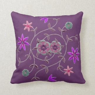 Lilac Plum Spring Flower Garden Pillows