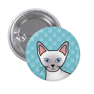Lilac Point Siamese Cat Button