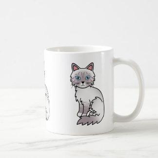 Lilac Point Tabby Birman / Ragdoll Cat Coffee Mug