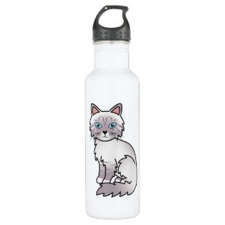 Lilac Point Tabby Birman / Ragdoll Cat Water Bottle