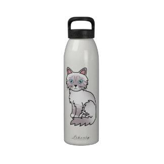 Lilac Point Tabby Birman / Ragdoll Cat Water Bottles