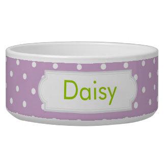 Lilac Polka Dot Pet Bowls