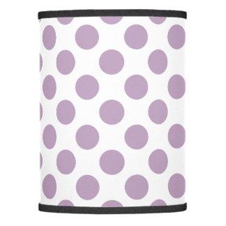 Lilac Polka Dots Lamp Shade