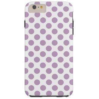 Lilac Polka Dots Tough iPhone 6 Plus Case