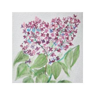 Lilac - Prairie Mile floral watercolor design Canvas Print