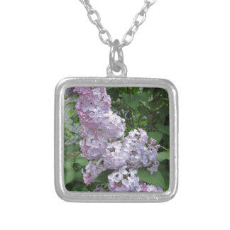 Lilac Pretty Purple Silver Plated Necklace
