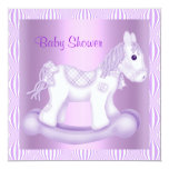 LILAC PRETTY ROCKING HORSE BABY SHOWER INVITATION