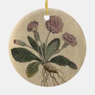 Lilac Primrose Ceramic Ornament