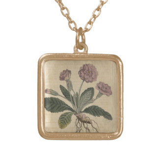Lilac Primrose Gold Plated Necklace