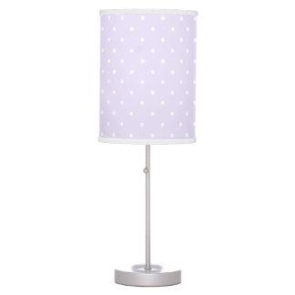 Lilac Purple and white delicate polka dot Desk Lamps