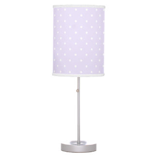 Lilac Purple and white delicate polka dot Table Lamp