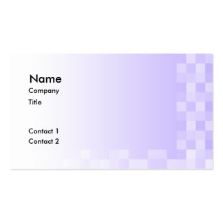 Lilac Purple and White Squares Pattern. Business Card