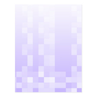 Lilac Purple and White Squares Pattern. Postcard