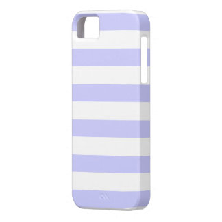 Lilac Purple and White Stripes Pattern iPhone SE/5/5s Case