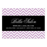 Lilac Purple & Black Modern Chevron Stripes Large Business Cards (Pack Of 100)