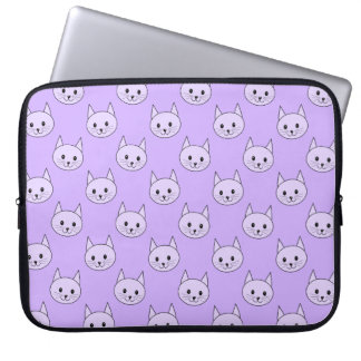 Lilac Purple cat pattern. Computer Sleeve