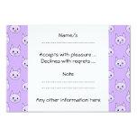 Lilac Purple cat pattern. 3.5x5 Paper Invitation Card