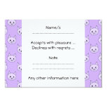 Lilac Purple cat pattern. Invites