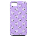 Lilac Purple cat pattern. iPhone 5 Case