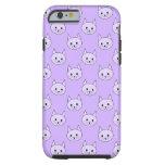 Lilac Purple cat pattern. Tough iPhone 6 Case
