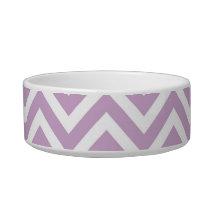 Lilac Purple Chevron Bowl