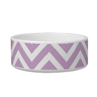 Lilac Purple Chevron Cat Water Bowl