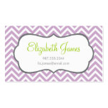 Lilac Purple Chevron Double-Sided Standard Business Cards (Pack Of 100)