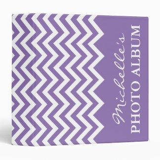 Lilac Purple chevron photo album ring binder