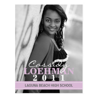 Lilac Purple Custom Photo Graduation Announcement Postcard