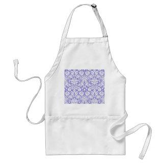 Lilac purple damask pattern adult apron