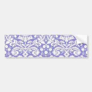 Lilac purple damask pattern bumper stickers
