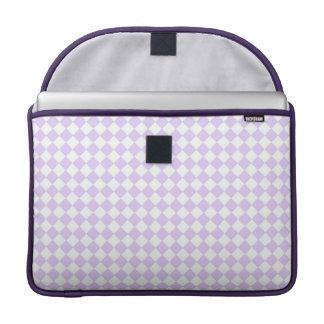 Lilac Purple Diamond Checkered pattern Sleeve For MacBooks