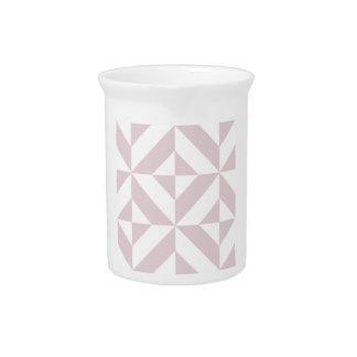 Lilac Purple Geometric Deco Cube Pattern Drink Pitcher