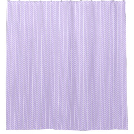 Lilac Purple Herringbone Shower Curtain