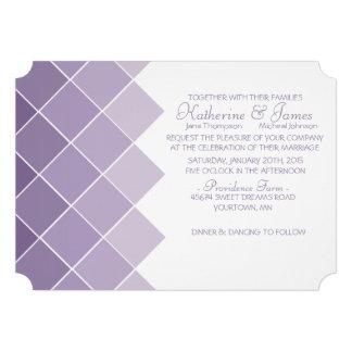 Lilac Purple Ombre Wedding Invitation