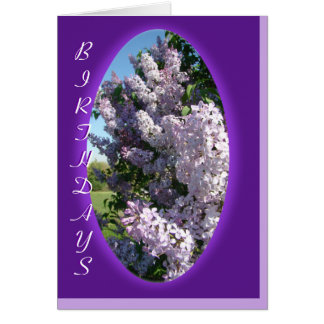 Lilac Purple Oval Birthday- customize any occasion Card