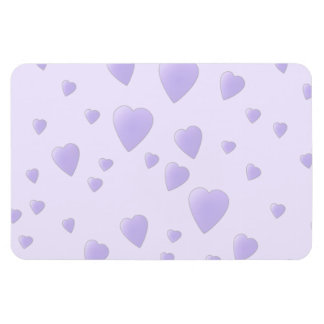 Lilac Purple Pattern of Love Hearts. Magnet