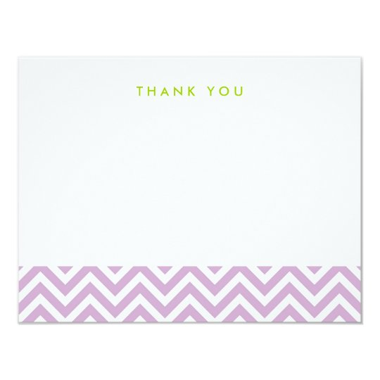 Lilac Purple Simple Chevron Thank You Note Cards