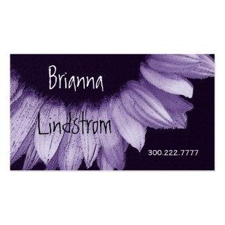 Lilac Purple Sunflower Business Card Templates