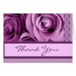 LILAC PURPLE Thank You - Bridal Shower Stationery Note Card