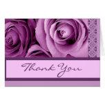 LILAC PURPLE Thank You - Bridal Shower Greeting Card