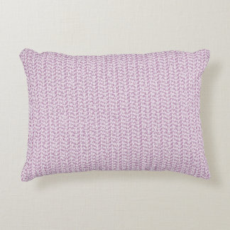 Lilac Purple Weave Mesh Look Accent Pillow