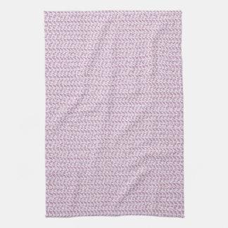 Lilac Purple Weave Mesh Look Kitchen Towel