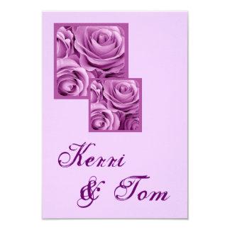 LILAC PURPLE Wedding Reception Card